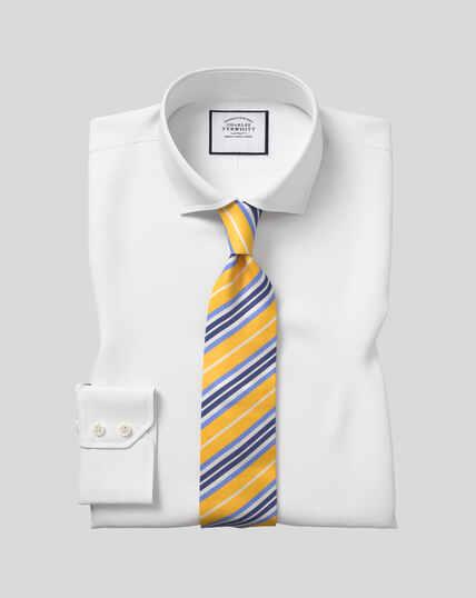 Chemise en popeline à col cutaway - Blanc