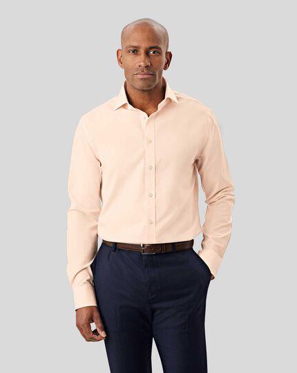 Cutaway Collar Non-Iron Poplin Shirt - Peach