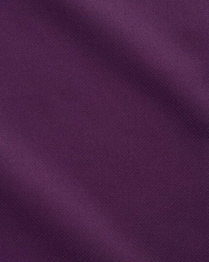 Extra slim fit semi-cutaway business casual non-iron modern textures dark purple shirt