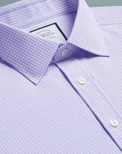 Small Gingham Shirt - Lilac