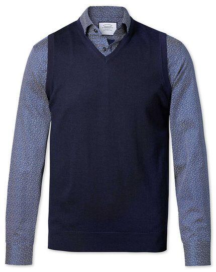 Navy merino sweater vest