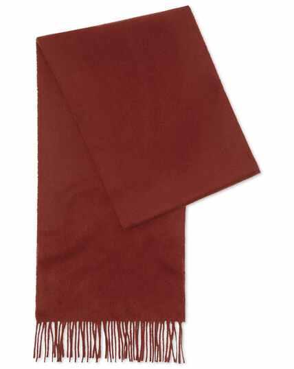 Burnt orange cashmere scarf