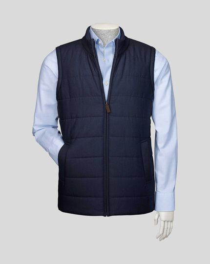 Knit Back Vest - Navy