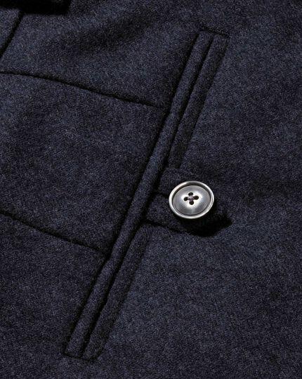 Navy slim fit wool flannel pants