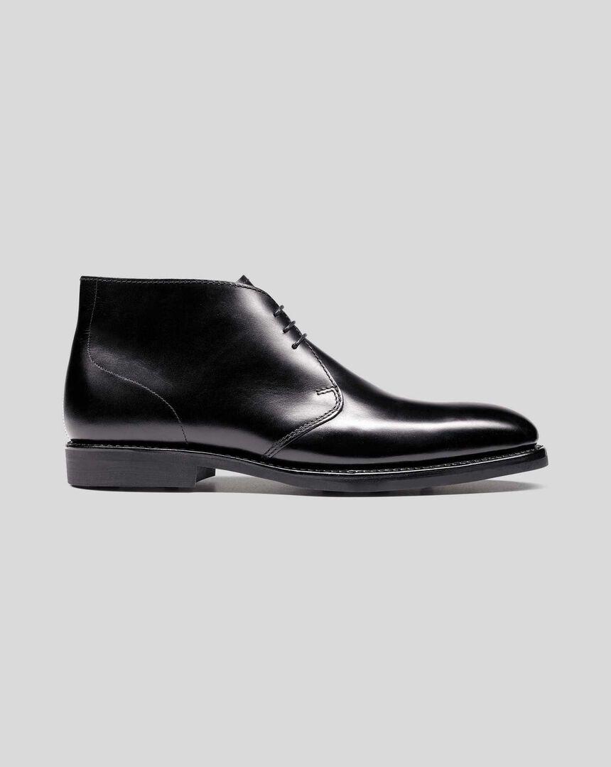 Goodyear Welted Chukka Boot  - Black