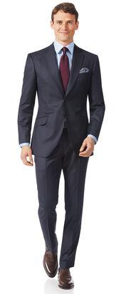 Costume bleu acier en tissu italien slim fit