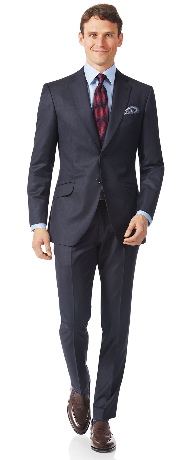 Airforce blue slim fit Italian suit