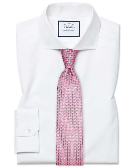 Overhemd Wit.Wit Strijkvrij Popeline Overhemd Met Superslanke Pasvorm Charles