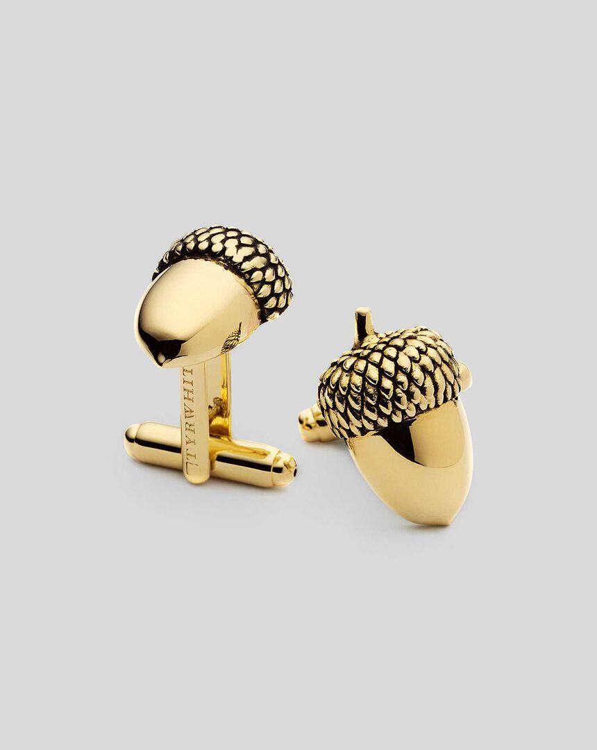 Acorn Cufflinks - Gold