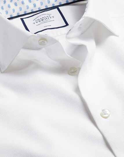 Business Casual Collar Cotton Linen Shirt - White