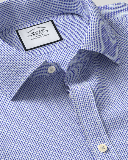 Classic Collar Textured Design Shirt - Blue