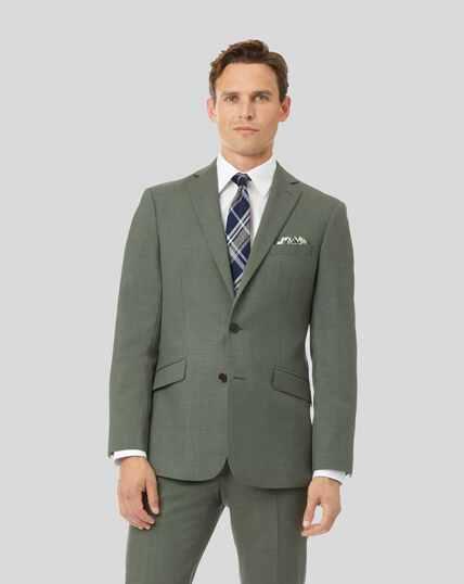 Merino Business Suit Jacket - Green