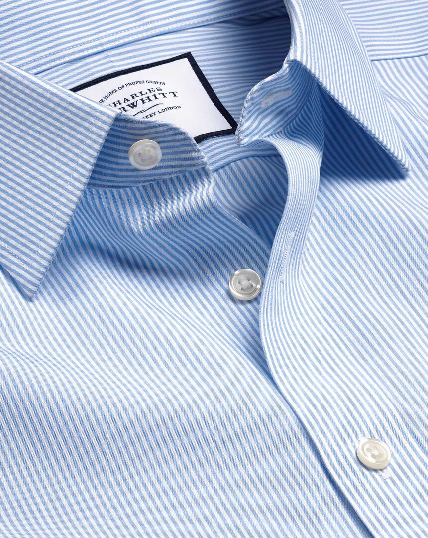 Non-Iron Bengal Stripe Shirt - Sky