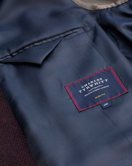 Italian Eco Wool Mix Jacket - Wine