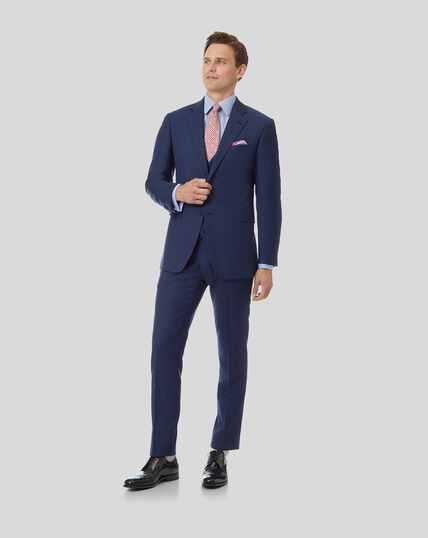 Anzug mit Fischgrätmuster - Königsblau