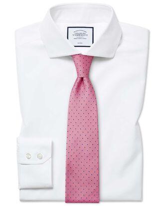 Chemise blanche en coton Tyrwhitt Cool slim fit à col cutaway sans repassage