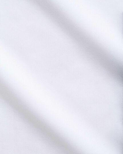 Bügelfreies Extra Slim Fit Luxushemd Marcella Latz vorne mit Haifischkragen in Weiß