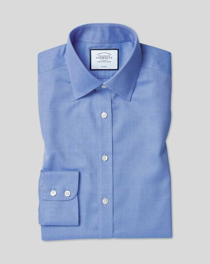 Classic Collar Non-Iron Royal Oxford Shirt  - Blue
