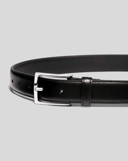 Leather Formal Belt - Black