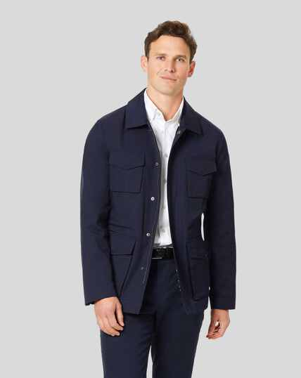 Showerproof Field Jacket - Navy