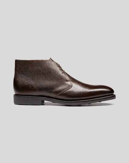 Goodyear Welted Chukka Boots - Brown
