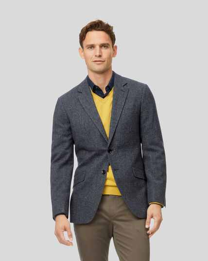 Tyrwhitt Gent Wool Jacket - Blue