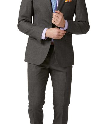 Extra Slim Fit Merino-Businessanzug in Grau