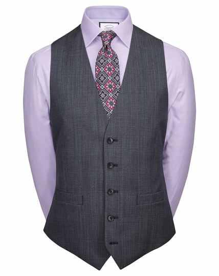 Airforce blue adjustable fit twist business suit waistcoat
