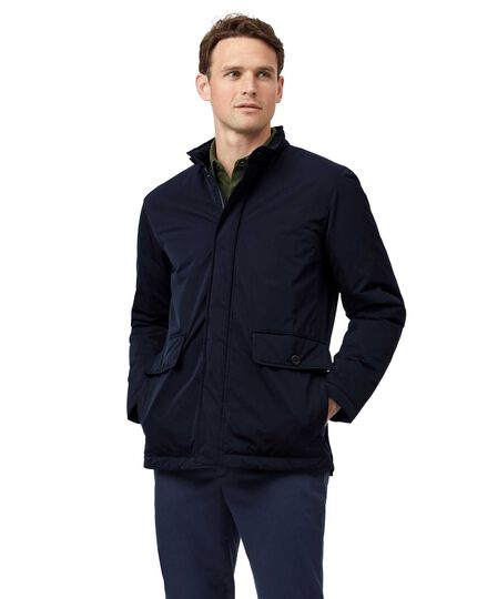 Navy showerproof field coat
