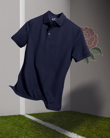 England Rugby Pique Polo - Navy