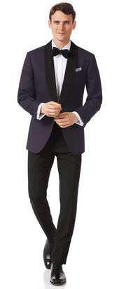 Aubergine slim fit tuxedo