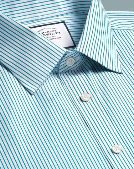 Spread Non-Iron Stripe Shirt - Green