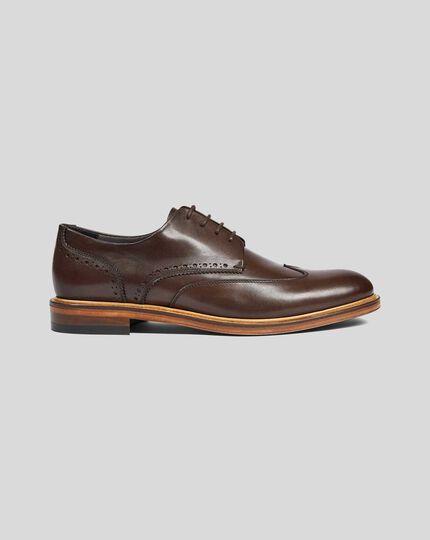 Derby-Schuhe  - Braun