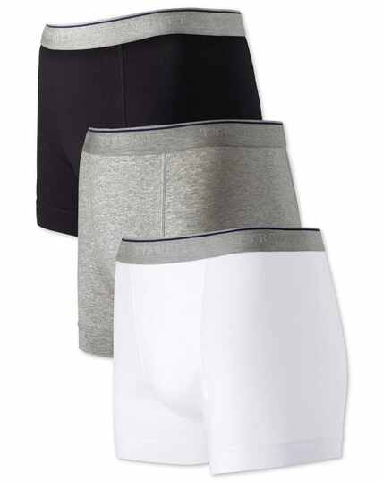 White multi jersey 3 pack trunks