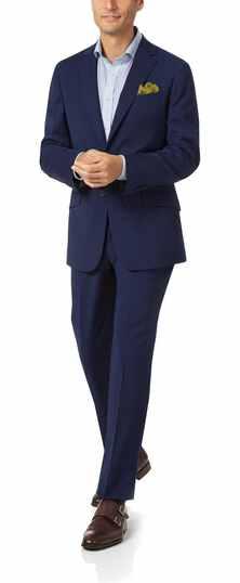 Royal blue slim fit performance suit