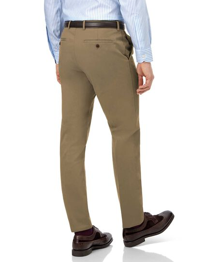 Fawn flat front non-iron chinos