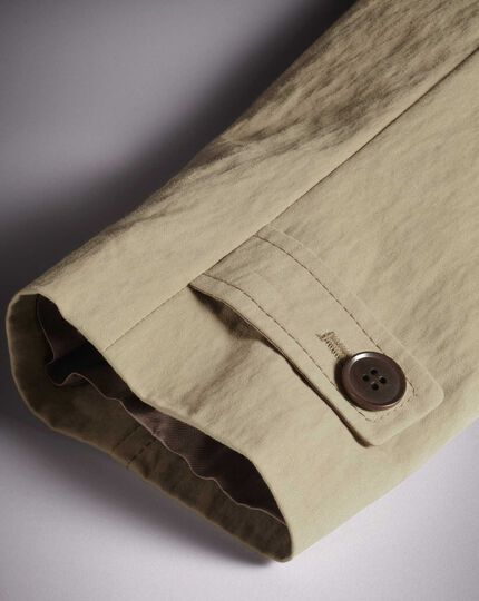 Regenmantel aus italienischer Baumwolle in Leichtgrau
