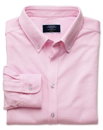 Pink Oxford jersey shirt