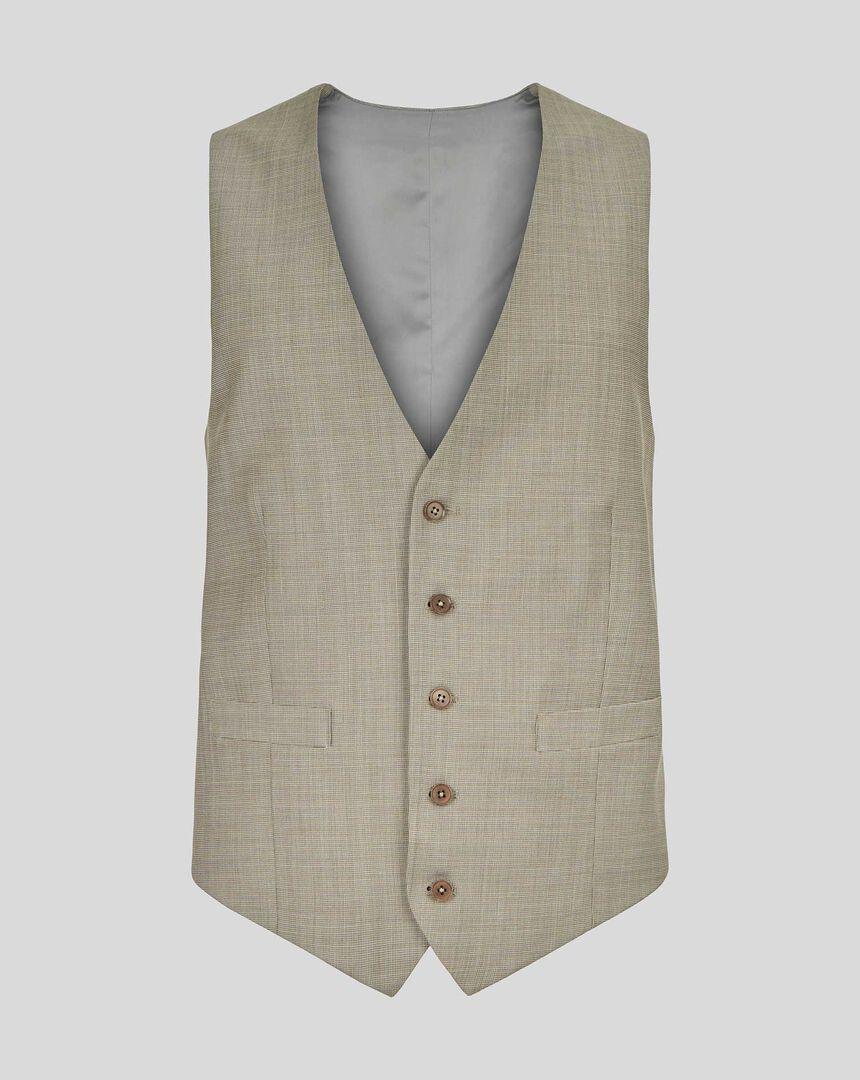 Textured Suit Vest - Stone