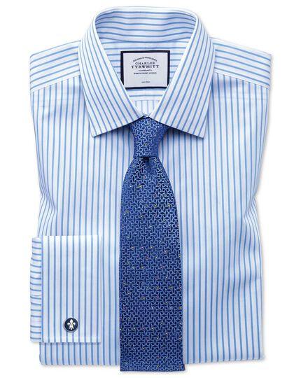 Navy geometric silk English luxury tie