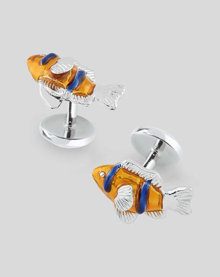 Clown Fish Cufflinks - Orange