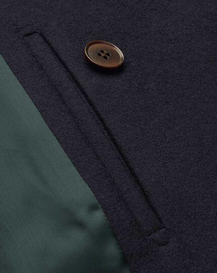 Cabanjacke aus italienischem Wolle-Kaschmir-Mix - Marineblau