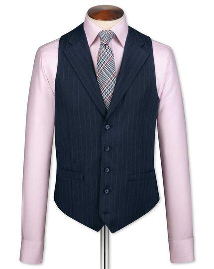 Navy saxony business suit vest