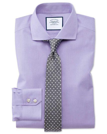 Cutaway Non-Iron Poplin Shirt - Lilac