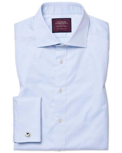 Slim fit sky blue luxury twill shirt