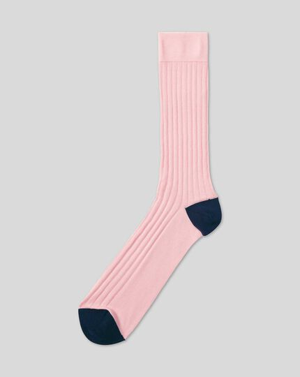Cotton Rib Socks - Light Pink