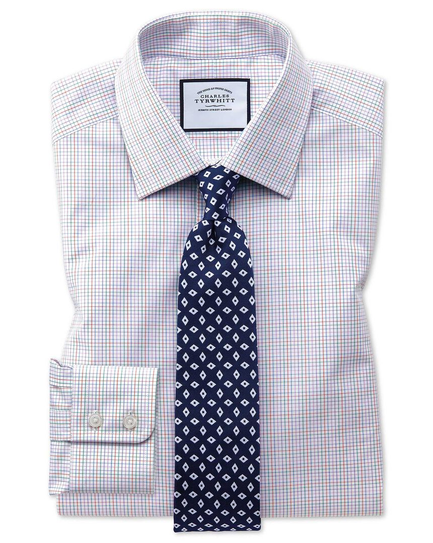 Multi Check Egyptian Cotton Shirt - Pink