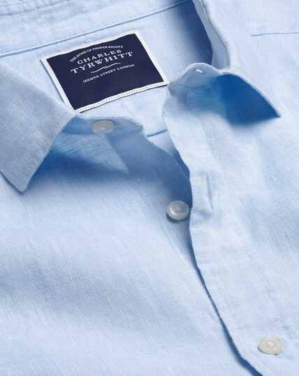 Hemd aus Leinen - Himmelblau
