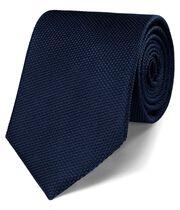 Cravate classique bleu marine en soie