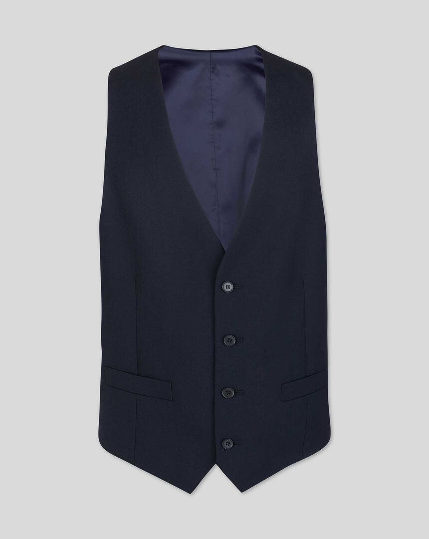 Business Suit Waistcoat - Midnight Blue